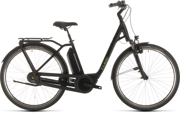CUBE - Town Hybrid Pro RT 500 black´n´green