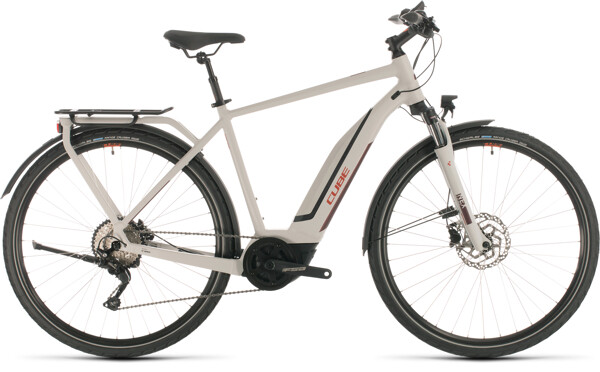 CUBE - Touring Hybrid Pro 500 grey´n´red