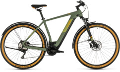 CUBE - Cross Hybrid Pro 625 Allroad green´n´orange