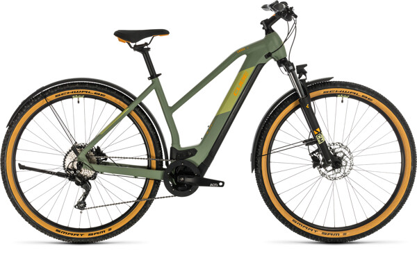 CUBE - Cross Hybrid Pro 500 Allroad green´n´orange