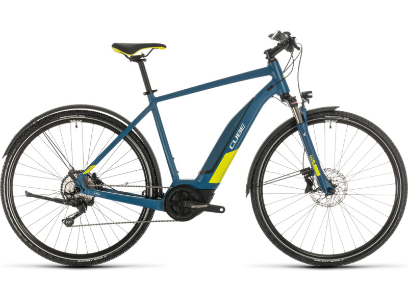 Cube Nature Hybrid EXC 500 Allroad blue´n´lime