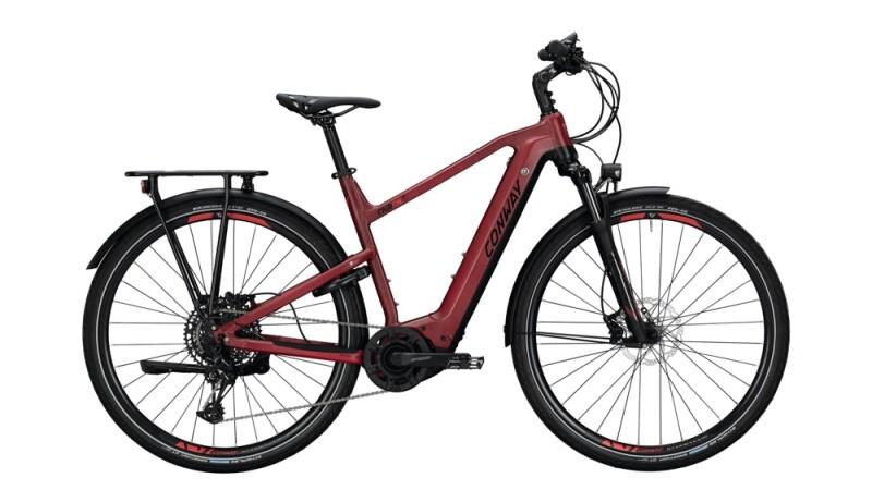 Conway Cairon T 500 schwarz,rot E-Bike