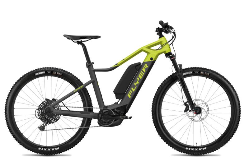 FLYER Uproc1 4.50 Anthracite / Lime Green Matt E-Bike