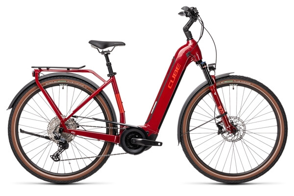 CUBE - Touring Hybrid EXC 625 red´n´grey