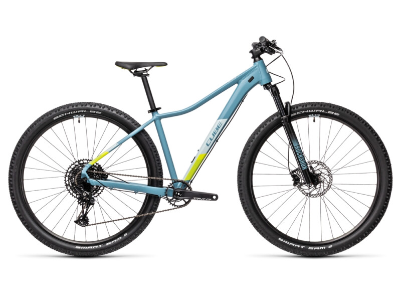 Cube Access WS SL greyblue´n´lime