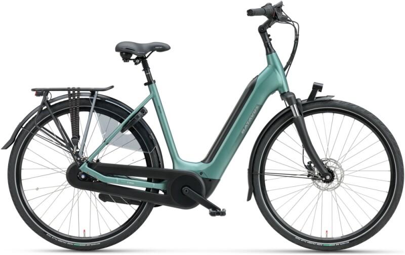 Batavus Finez E-go Power 625 Wave petrol silver mat e-Citybike