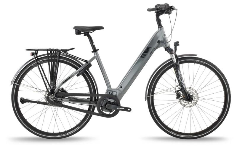 BH Bikes ATOM DIAMOND WAVE PRO Anthracite-Silver e-Citybike