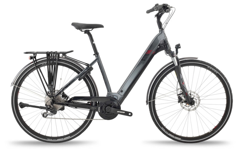 BH Bikes ATOM CITY WAVE PRO Grey-Black-Red e-Trekkingbike