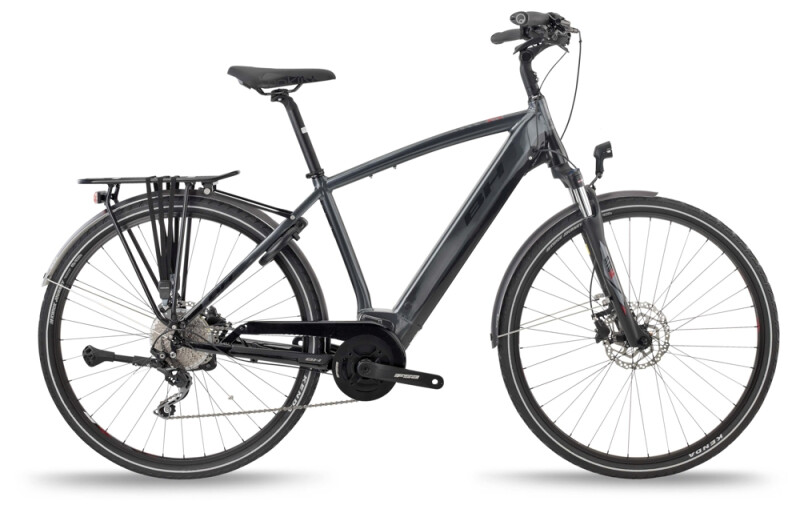 BH Bikes ATOM CITY PRO Grey-Black-Red e-Trekkingbike