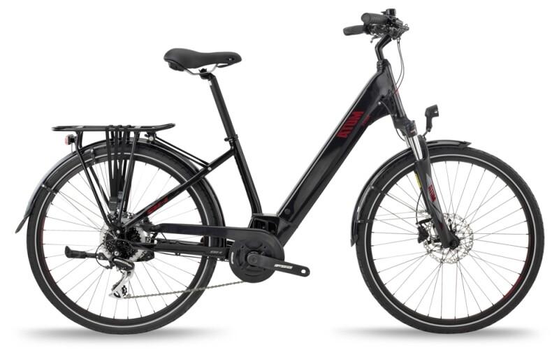 BH Bikes ATOM STREET Black-Red e-Trekkingbike