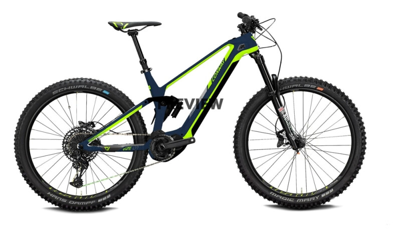 Conway eWME 529 MX darkblue metallic / acid e-Mountainbike