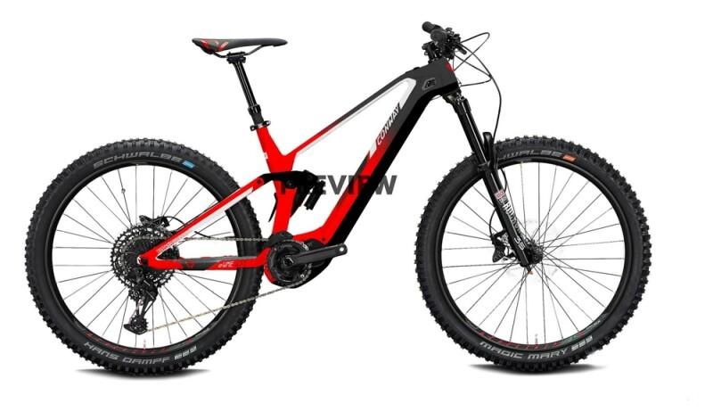Conway eWME 429 red / anthracite fade e-Mountainbike