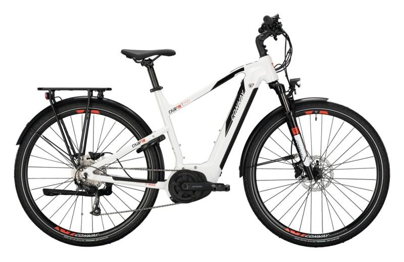Conway Cairon T 200 Trapez white / black e-Trekkingbike