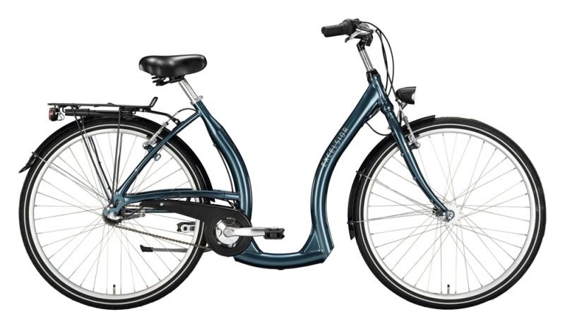 Excelsior Tiefeinsteiger Alu ND blau Citybike