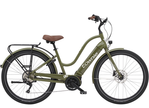 ELECTRA BICYCLE - Townie Path Go! 10D EQ Step-Thru Olive