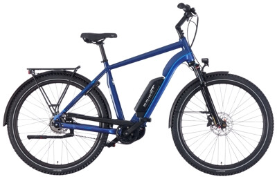 EBIKE.Das Original TREKKING Advanced Diamant blau Gates