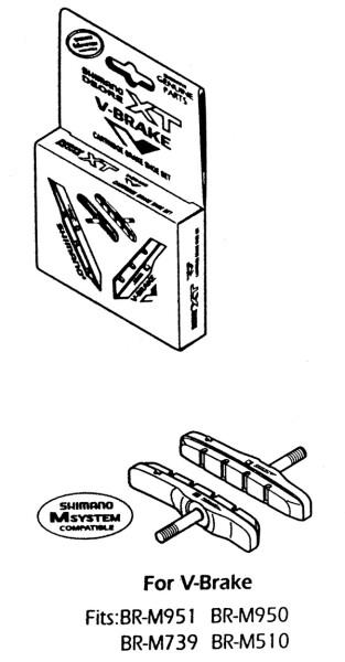 SHIMANO - BREMSSCHUH Cartridge Ausführung