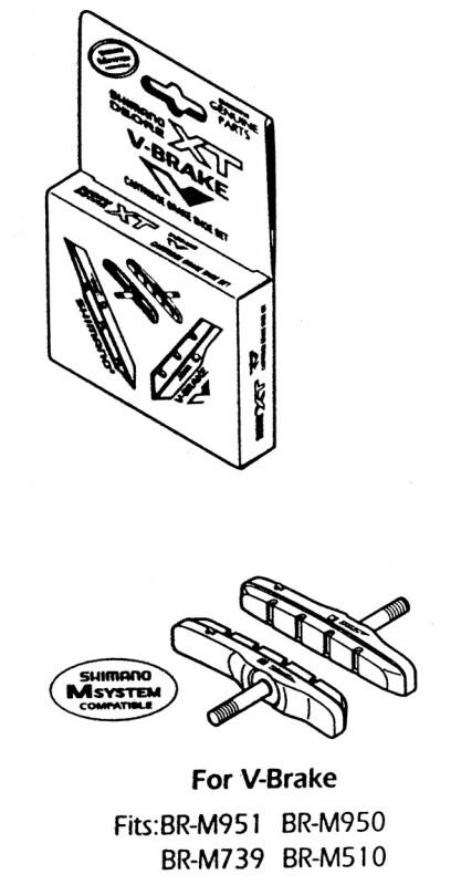 Shimano BREMSSCHUH Cartridge Ausführung