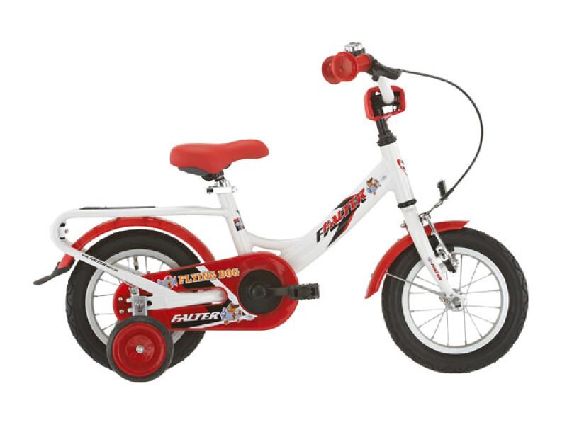 FALTER Kinderrad 12 Zoll weiß/rot