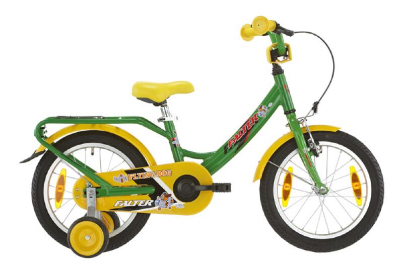 Falter Kinderrad 16 Zoll grün/gelb Kinder / Jugend