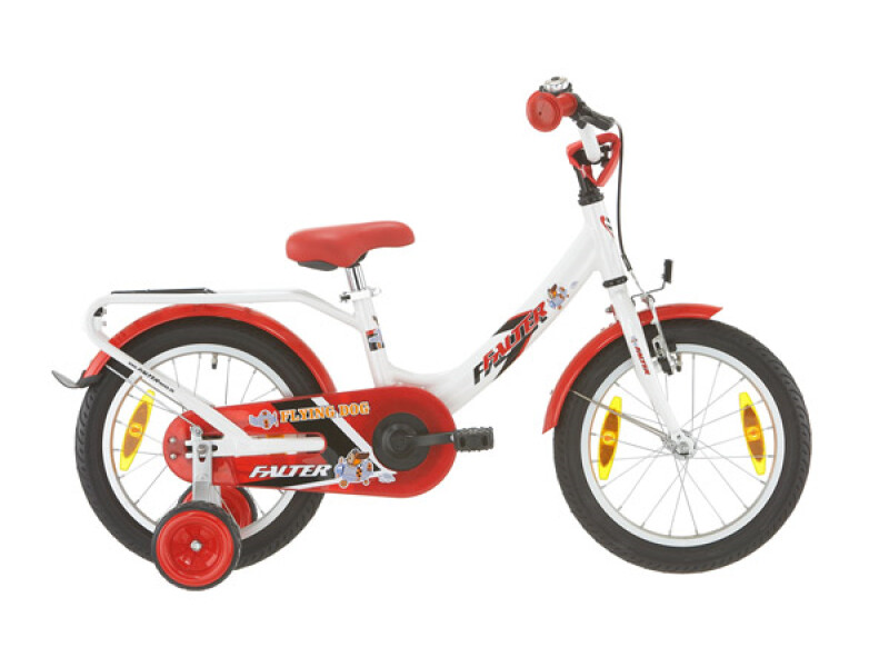 FALTER Kinderrad 16 Zoll weiß/rot