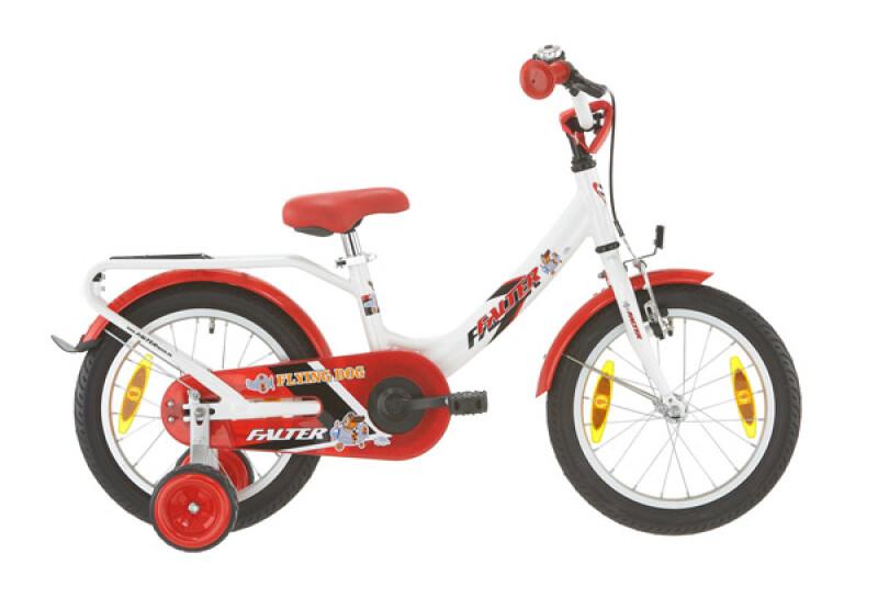 Falter Kinderrad 16 Zoll weiß/rot Kinder / Jugend