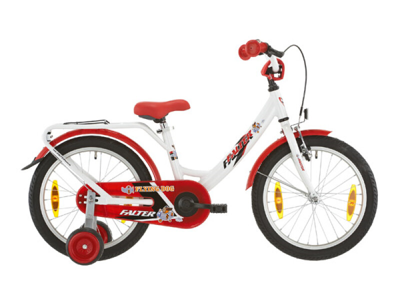 Falter Kinderrad 18 Zoll weiß/rot