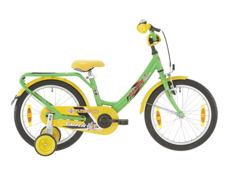 FALTER Kinderrad 18 Zoll grün/gelb