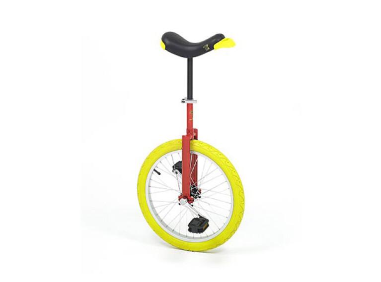 QU-AXLuxus, 20-Zoll, rot mit gelbem Reifen