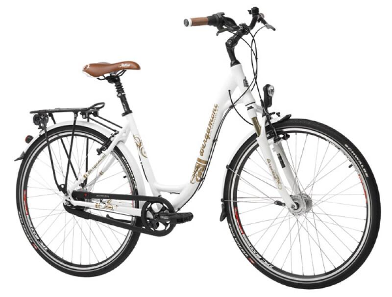 Bergamont Alu Monolite N-8 suspension white Citybike