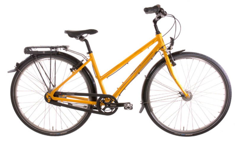 Drahtesel Stadtrad Classic Trapez gelb