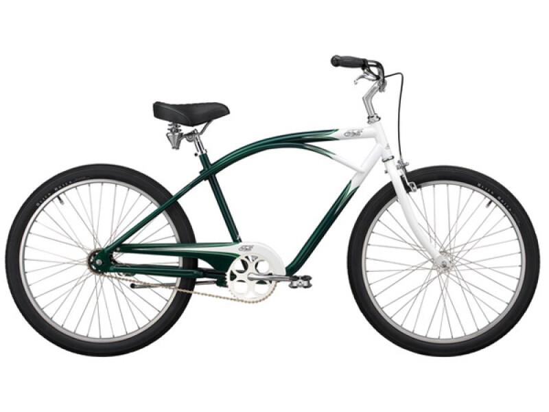 Felt Luxe grün-weiss
