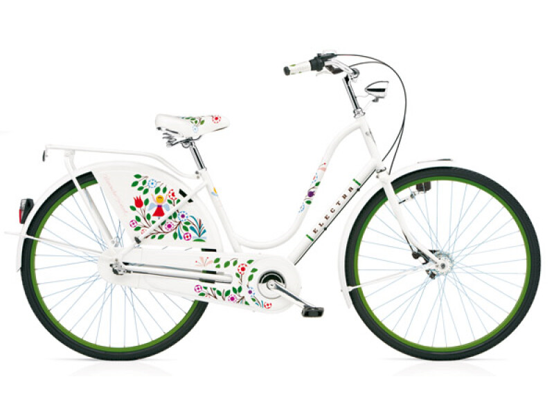 Electra Bicycle Amsterdam Alexander Girard 3i White Tree of Life