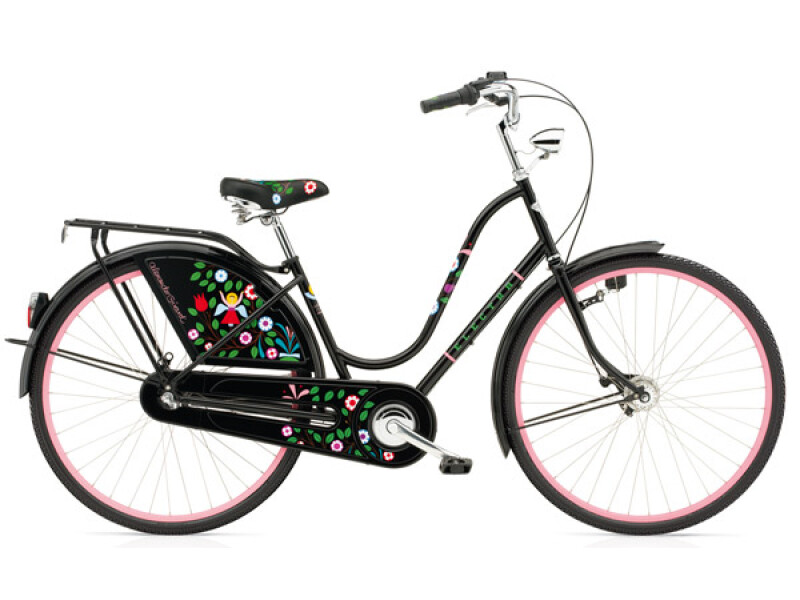 Electra Bicycle Amsterdam Alexander Girard 3i Black Tree of Life