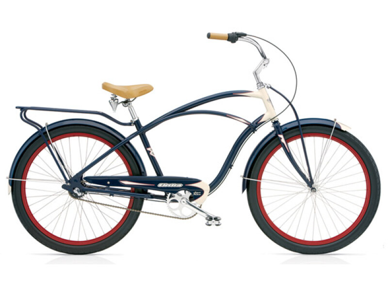 Electra Bicycle Super Deluxe 3i navy/cream men's
