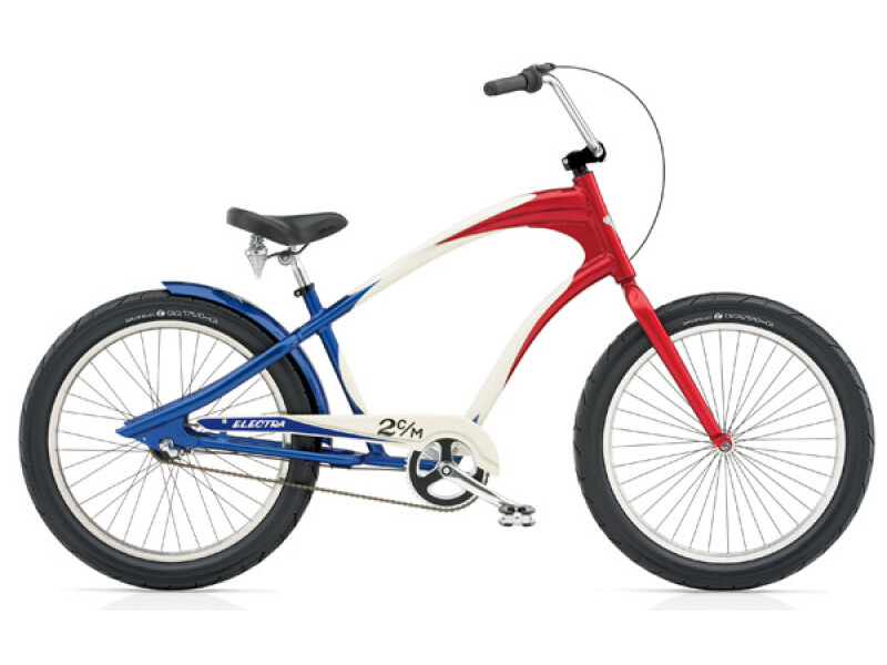 Electra Bicycle Lakester 3i red/white/blue men's