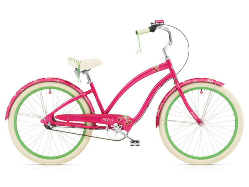 Electra Bicycle Cherie 3i hot pink ladies'
