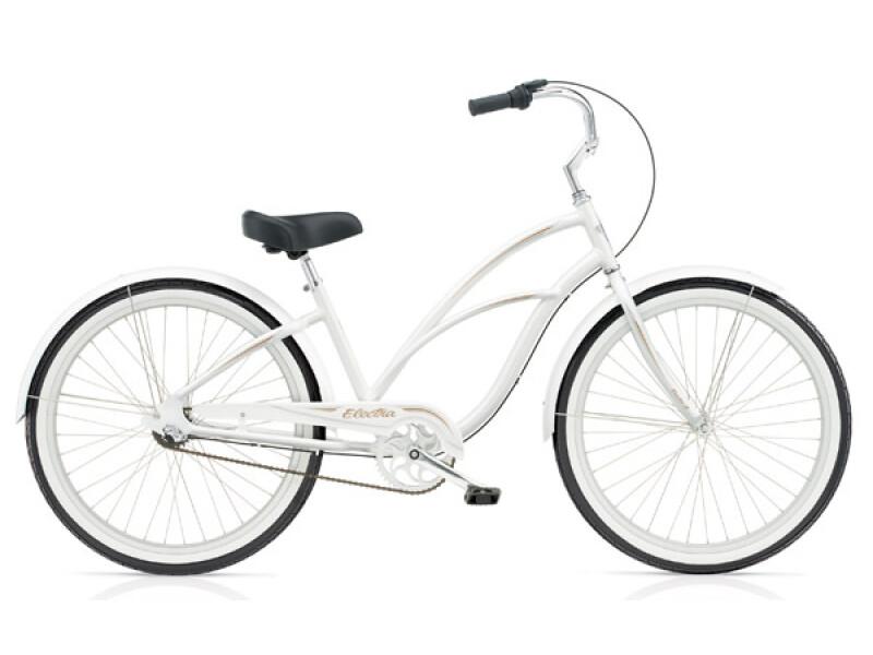 Electra Bicycle Coaster 3i pearl white ladies'