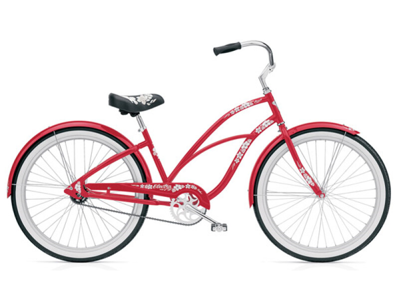Electra Bicycle Hawaii 3i red ladies'