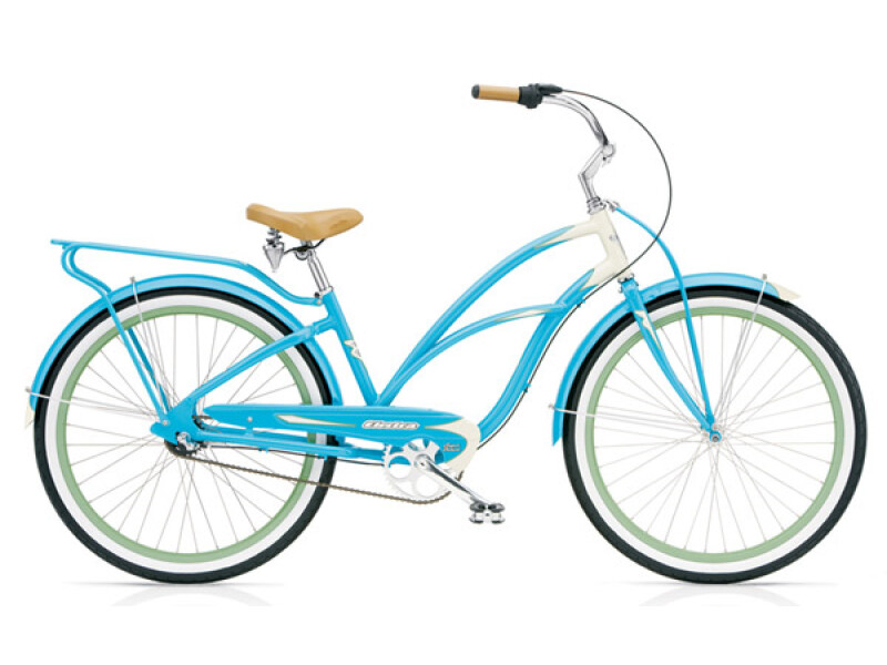 Electra Bicycle Super Deluxe 3i aqua/cream ladies'