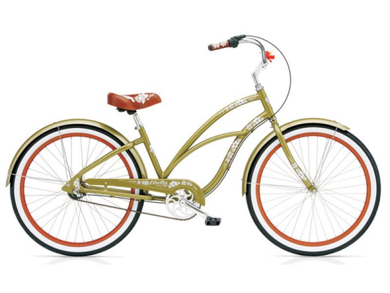 Electra Bicycle Hawaii Custom 3i olive ladies'