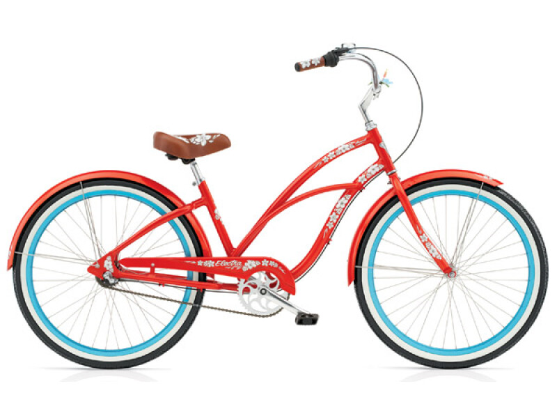 Electra Bicycle Hawaii Custom 3i orange ladies'