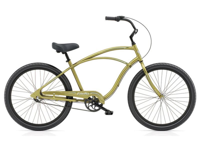 Electra Bicycle Coaster 3i olive metallic men's