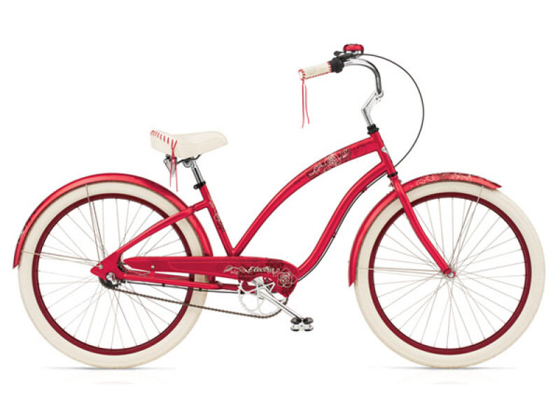 Electra Bicycle Fleur 3i raspberry ladies'