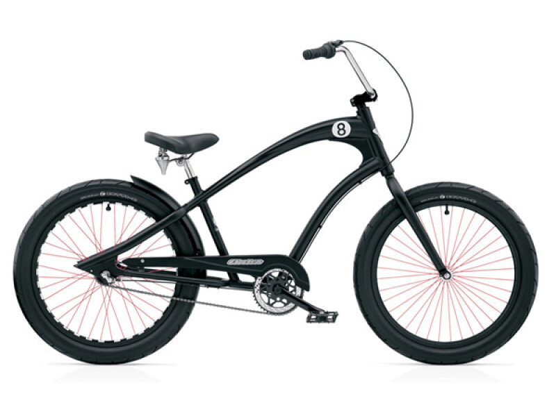 Electra Bicycle Straight 8 3i black men's