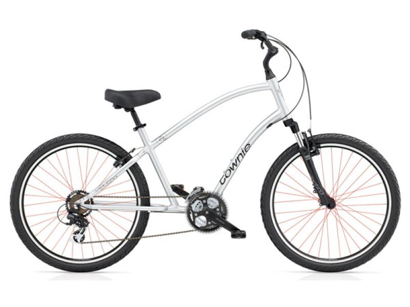 Electra Bicycle Townie Original 21D liquid silver men's