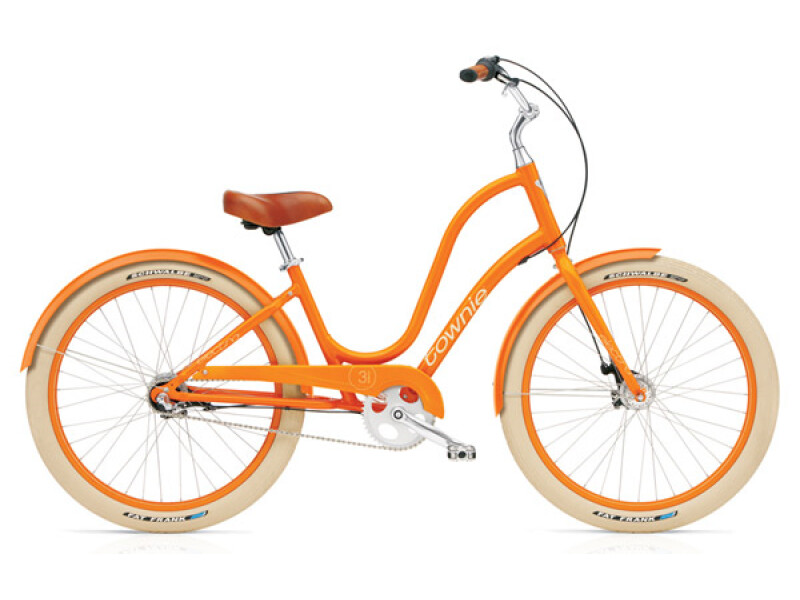 Electra Bicycle Townie Balloon 3i tangerine ladies'