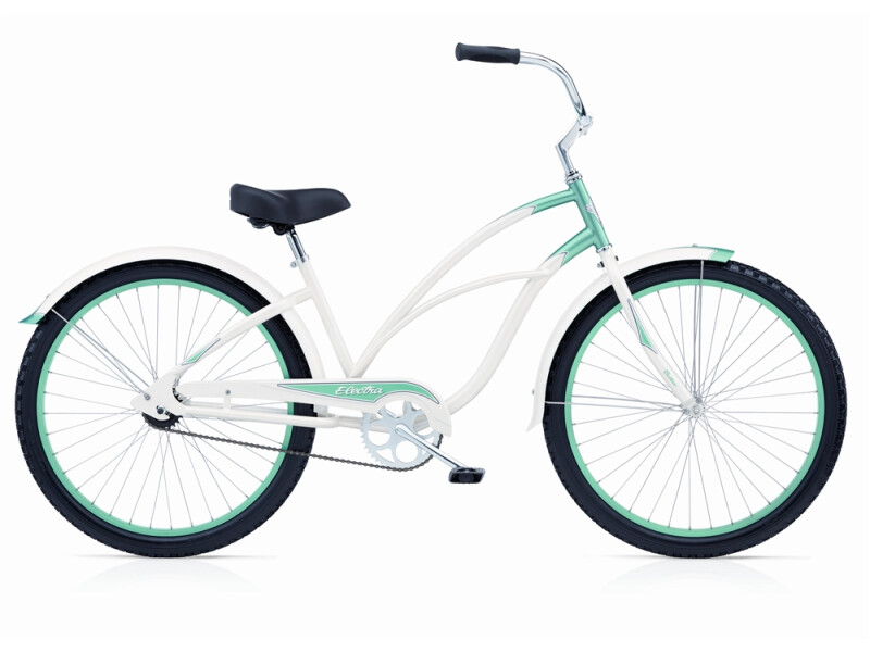 Electra Bicycle Cruiser 1 pearl/ white/ mint ladies'