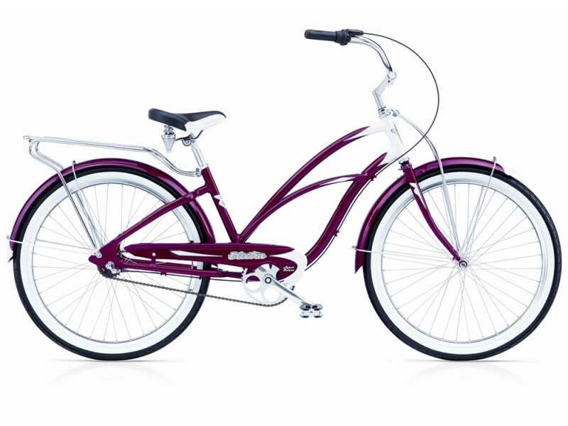 Electra Bicycle Super Deluxe 3i candy red ladies'