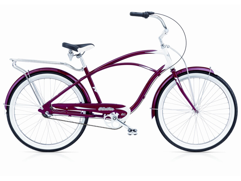 Electra Bicycle Super Deluxe 3i candy red men's